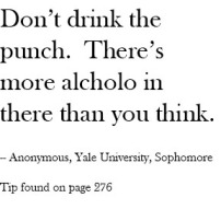 Don't Drink the punch